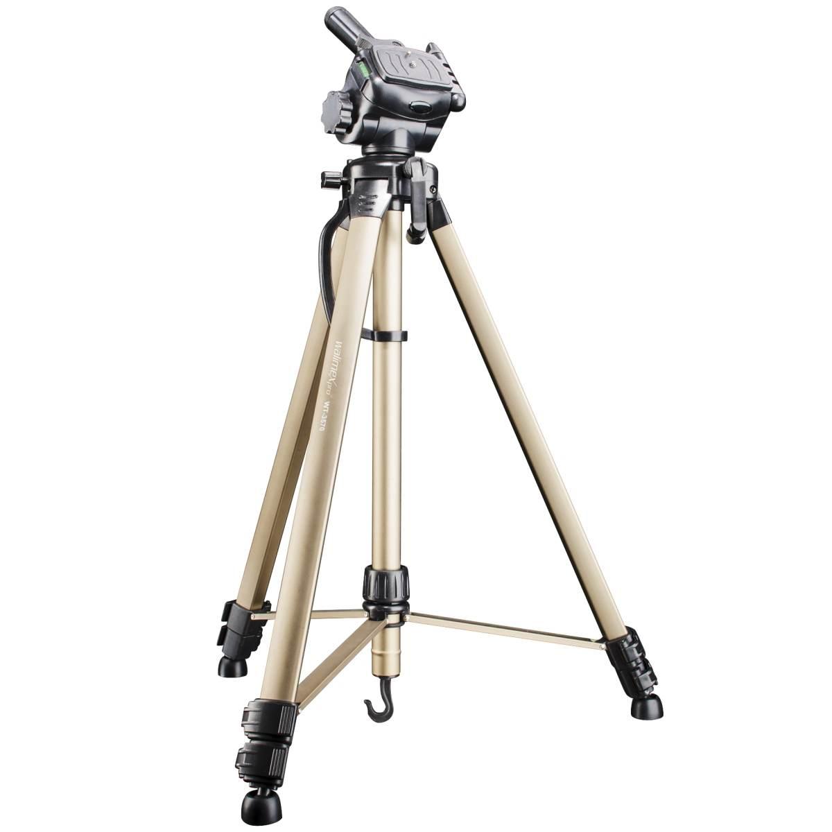Walimex WT-3530 Basic-Tripod 3D-Panhead 146cm bronze