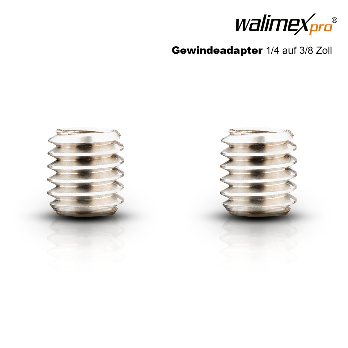 Walimex pro Adapter 1/4 inch to 3/8 inch, 2x