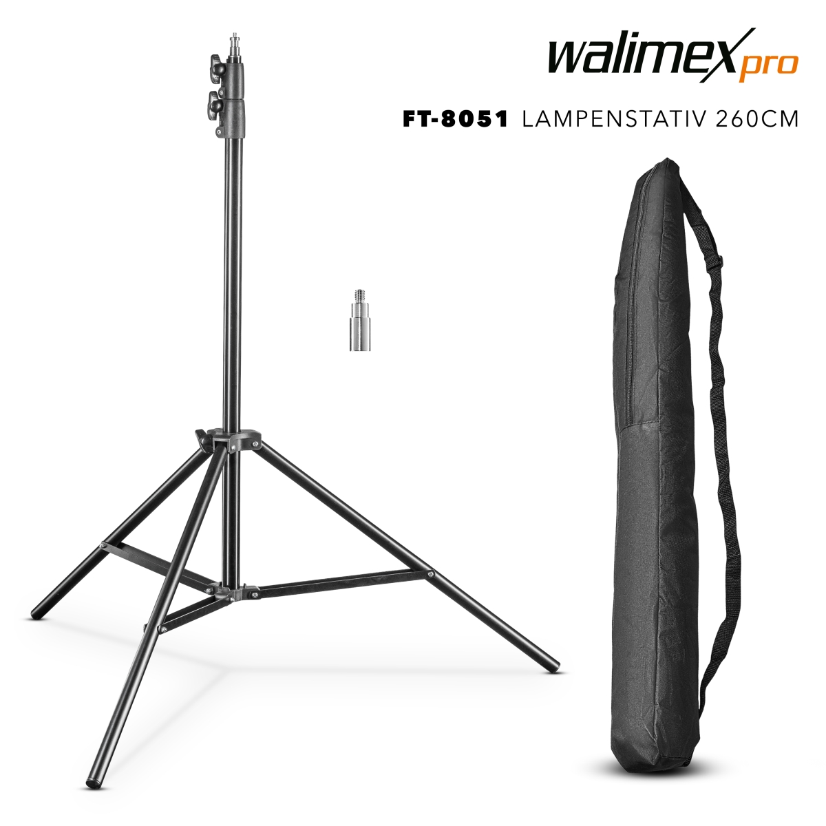 Walimex pro FT-8051 Lamp Tripod, 260cm