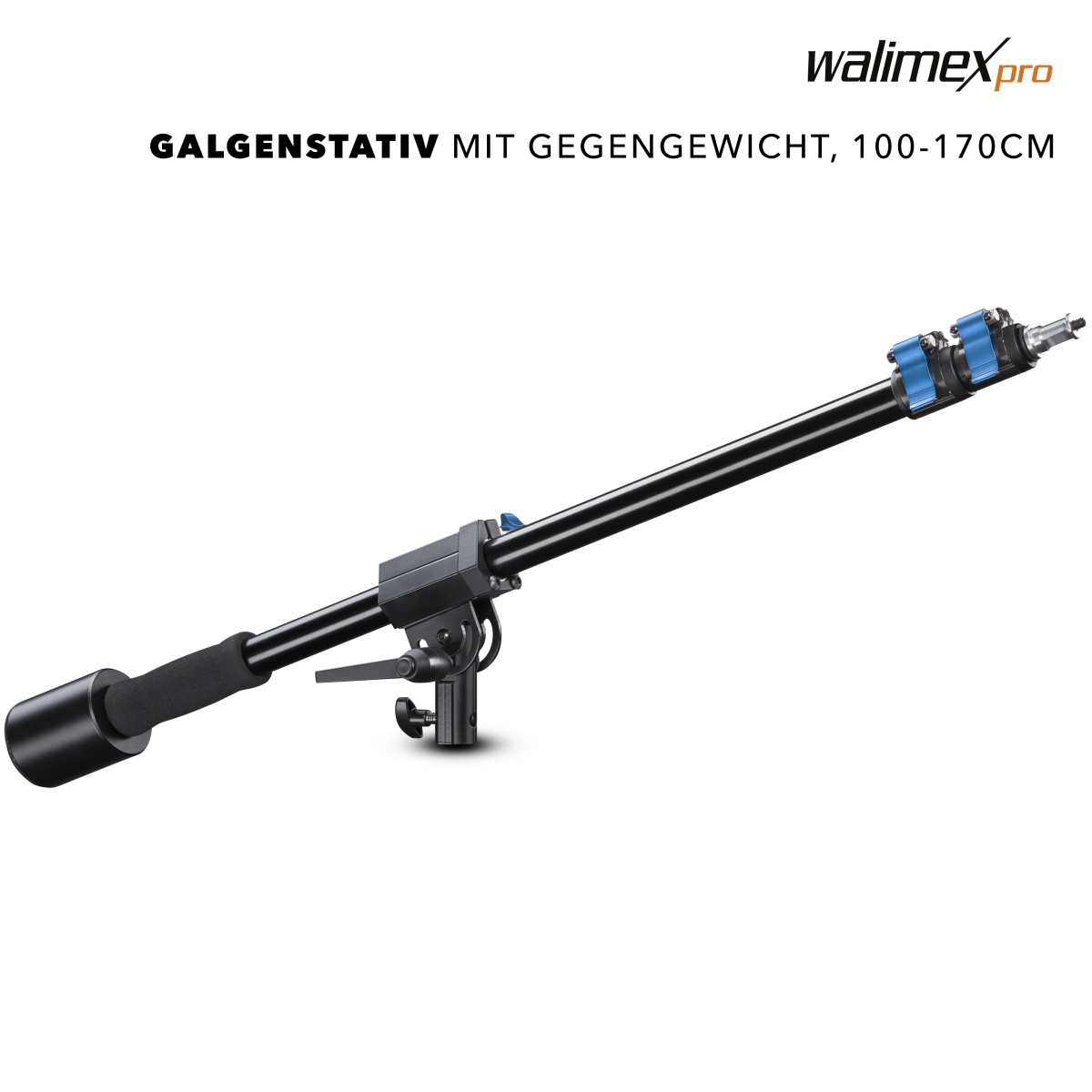 Walimex pro Boom incl. counter weight, 70-183cm