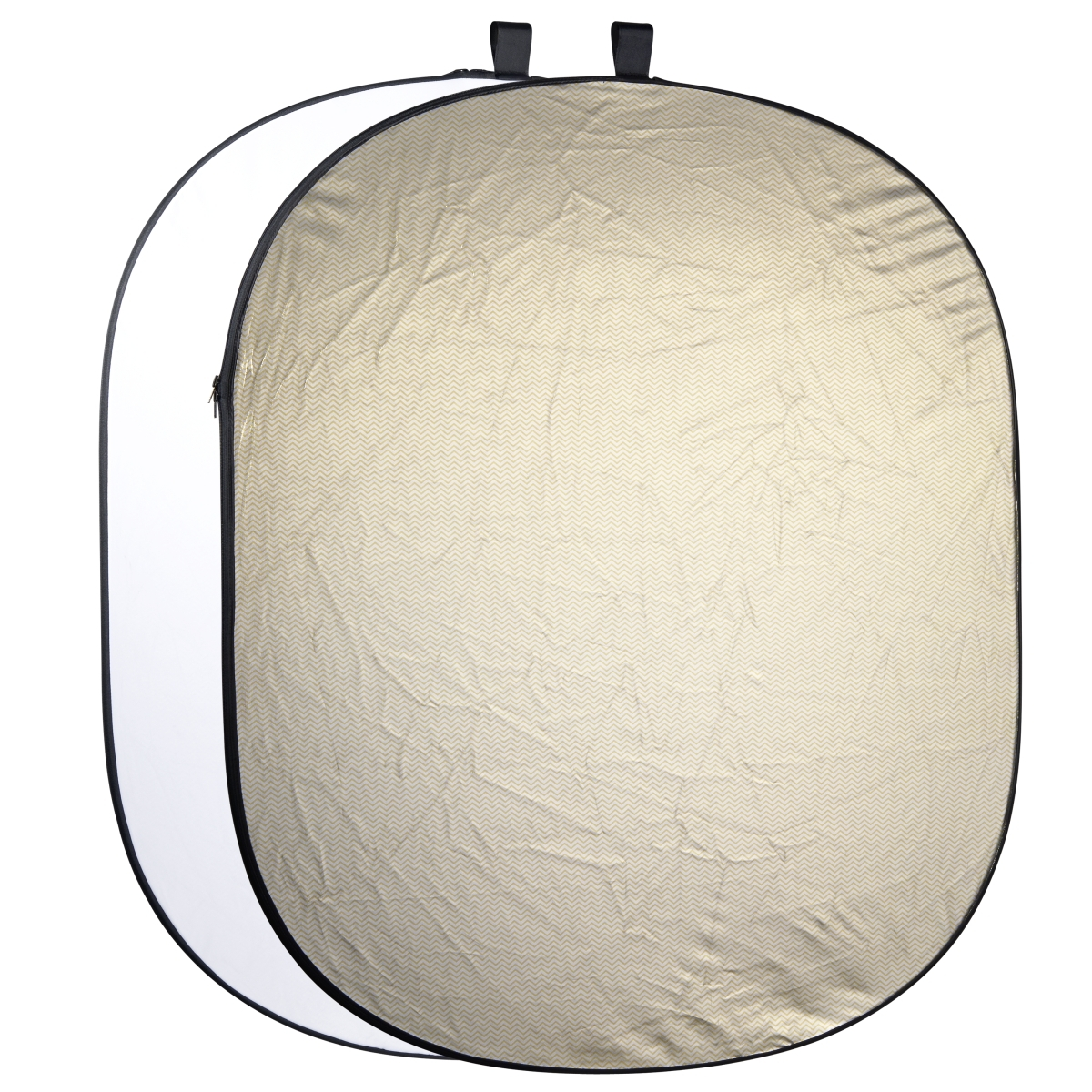 Walimex pro 2in1 Foldable Reflector wavygold/white