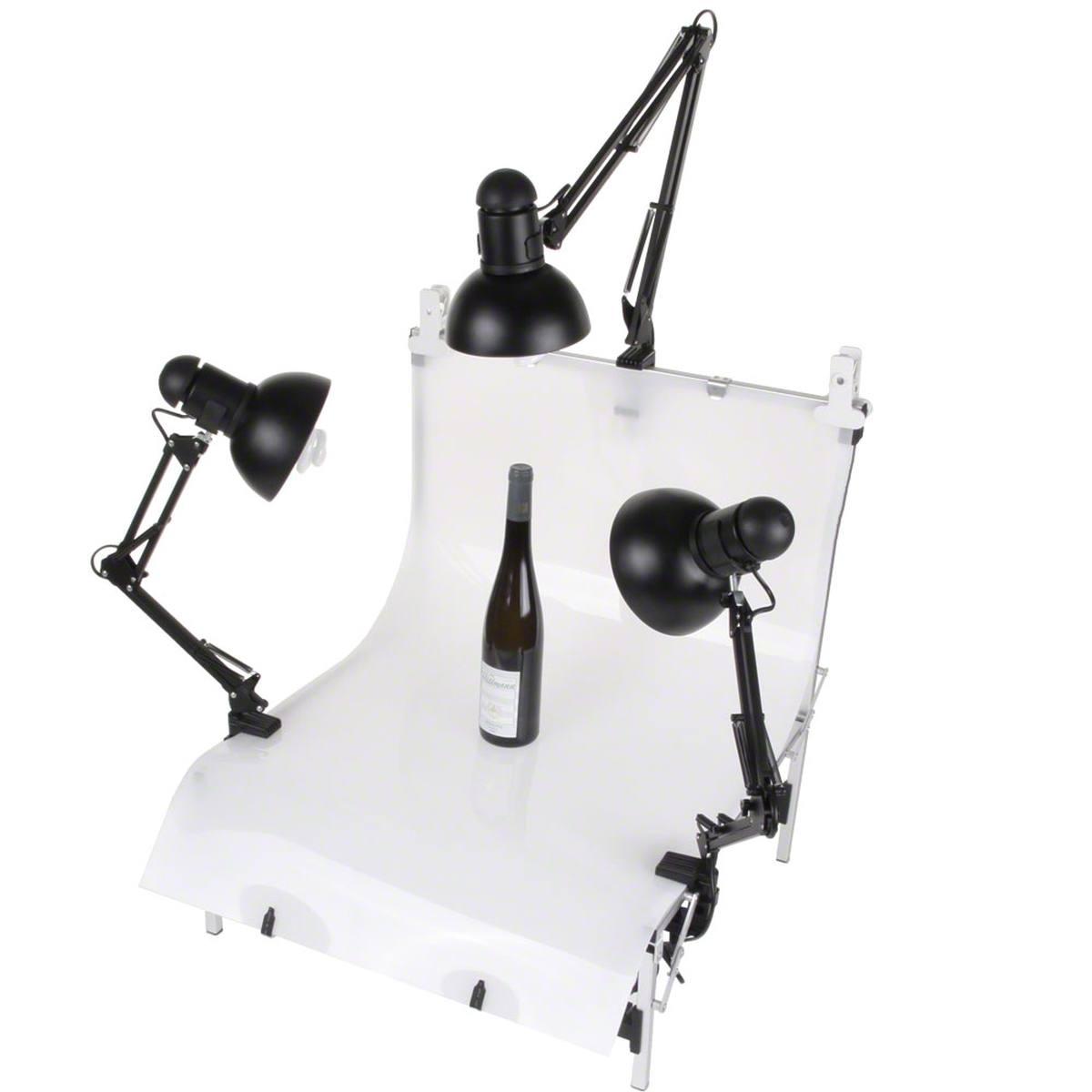 Walimex Set 3 Daylights, 3x 25W + Shooting Table