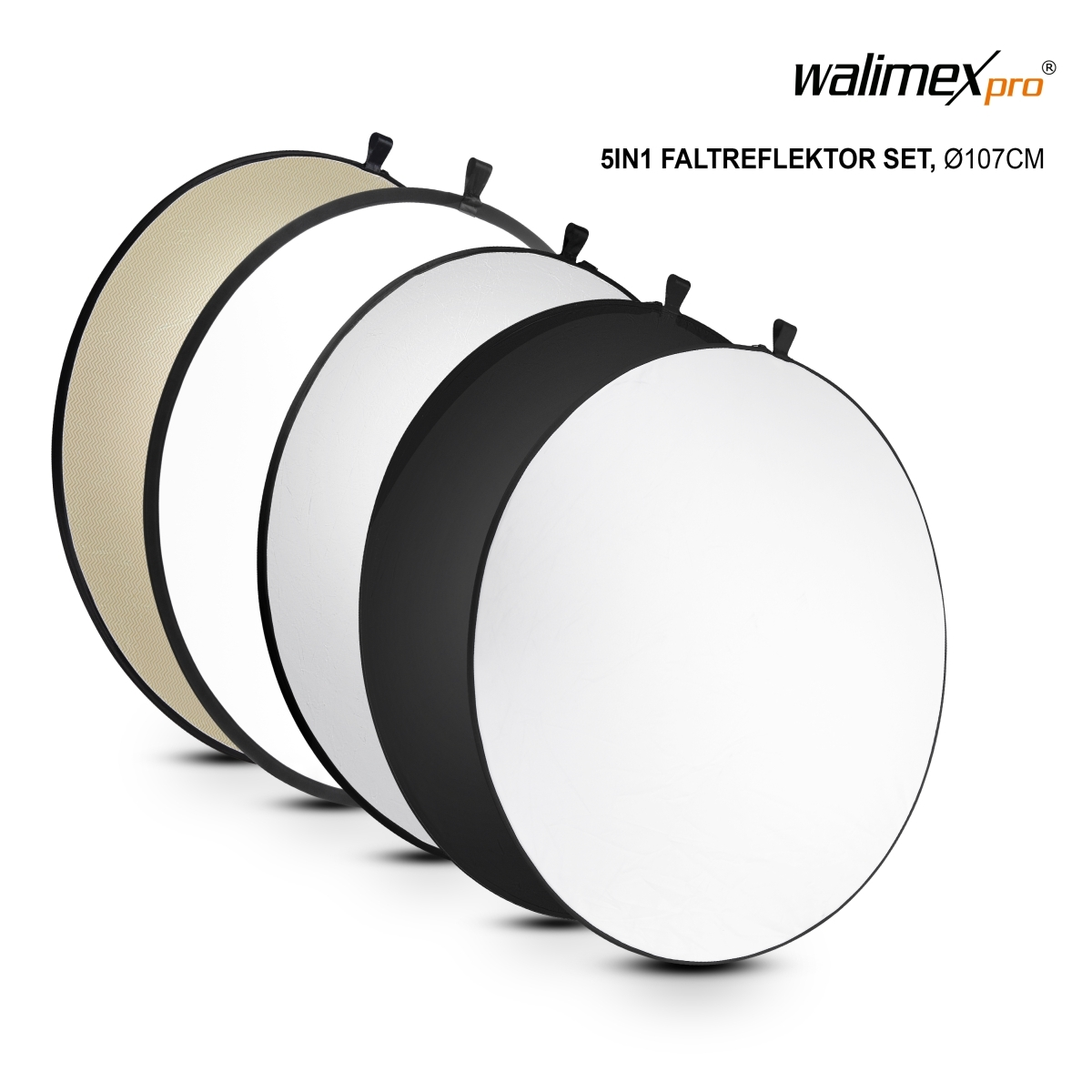 Walimex pro 5in1 Foldable Reflector Set, 107cm