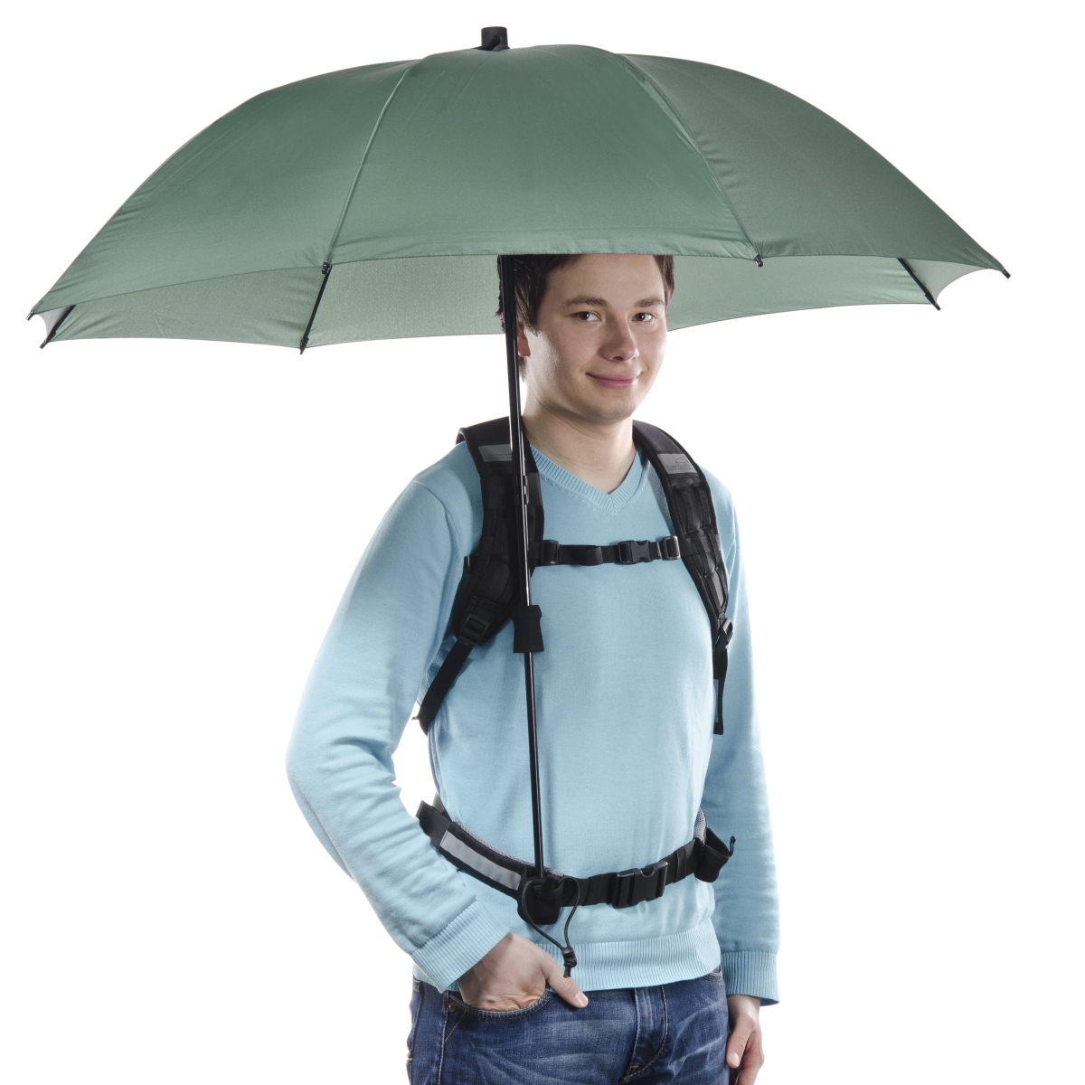 Swing handsfree Umbrella olive w. Carrier System