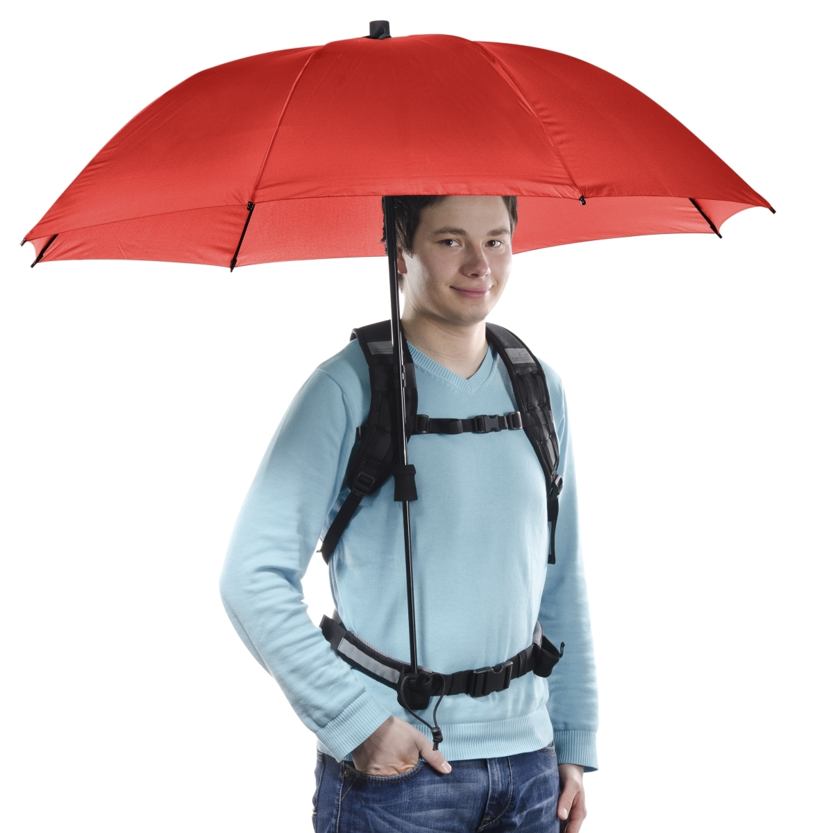 Swing handsfree Umbrella red w. Carrier System