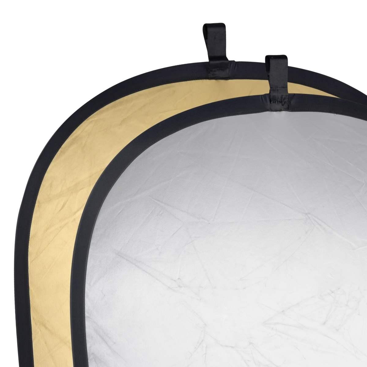Foldable Reflector golden/silver, 102x168cm