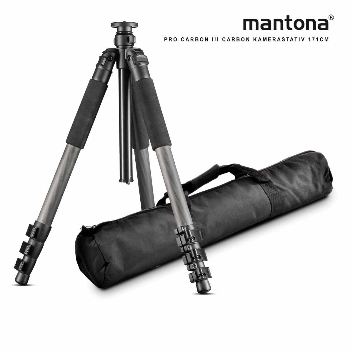 Mantona Basic Fortis 171T Carbon Tripod