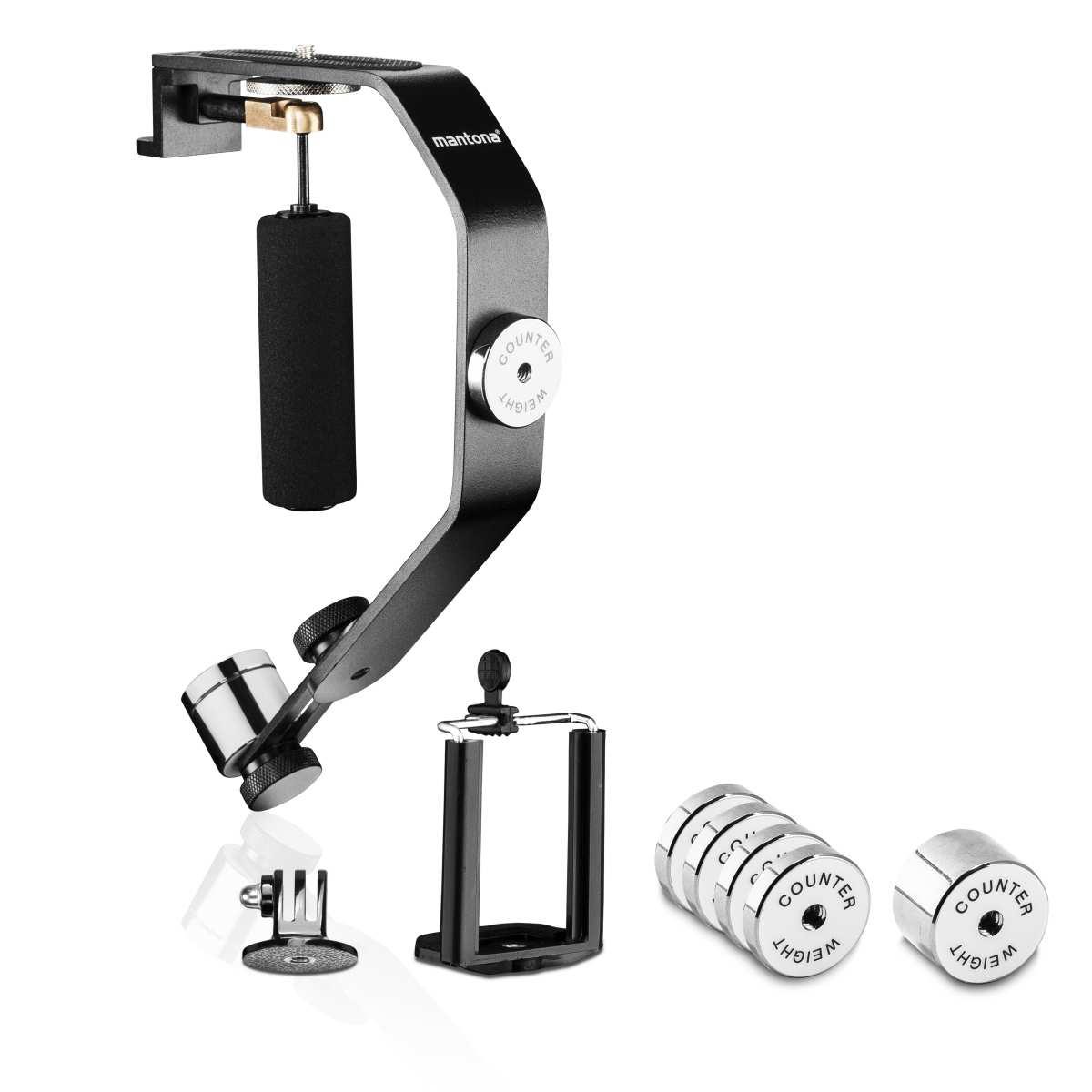 Mantona steadycam for Action Cams 1/4 inch thread