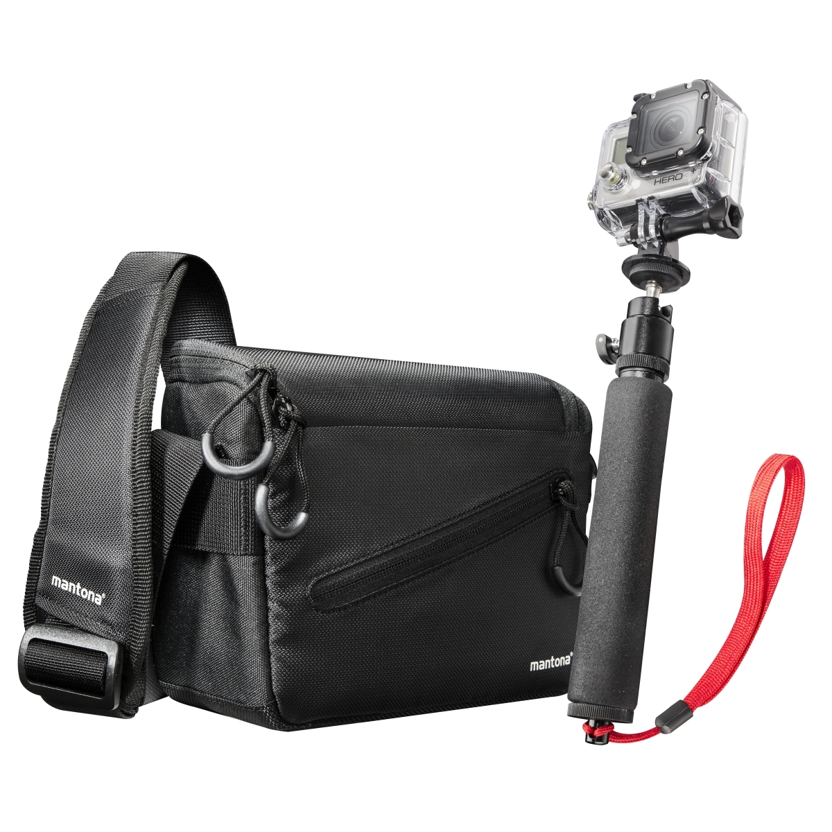 Mantona Irit bag for GoPro incl hand tripod