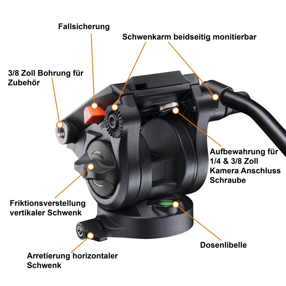 Walimex pro panhead with quick-release plate