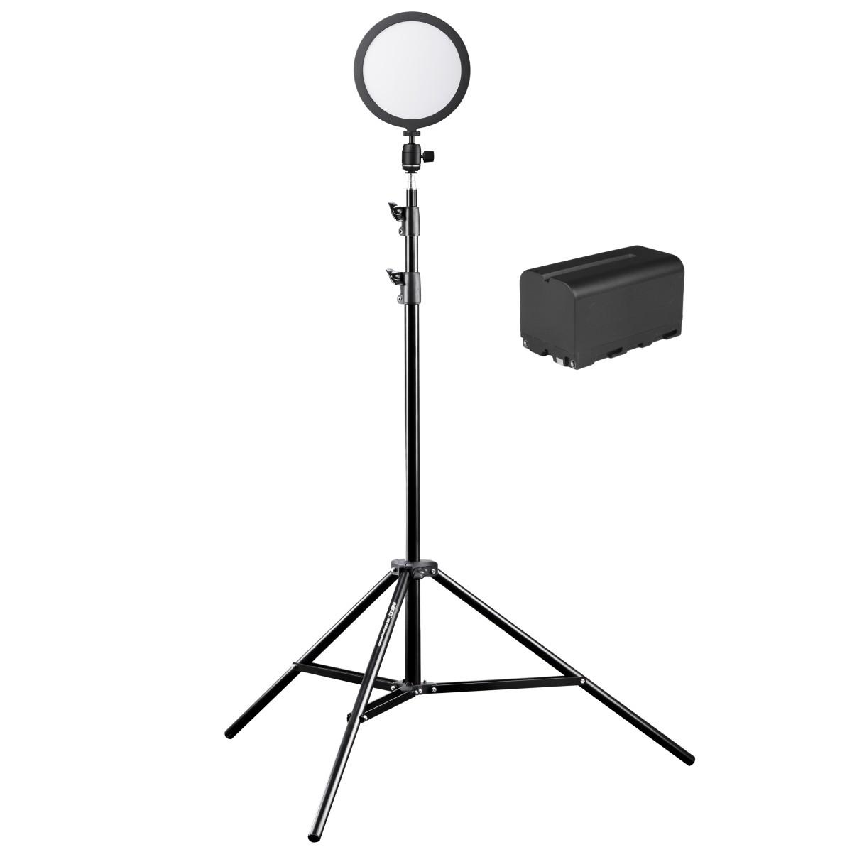 Walimex pro Soft LED 200 Round Bi Color Set3
