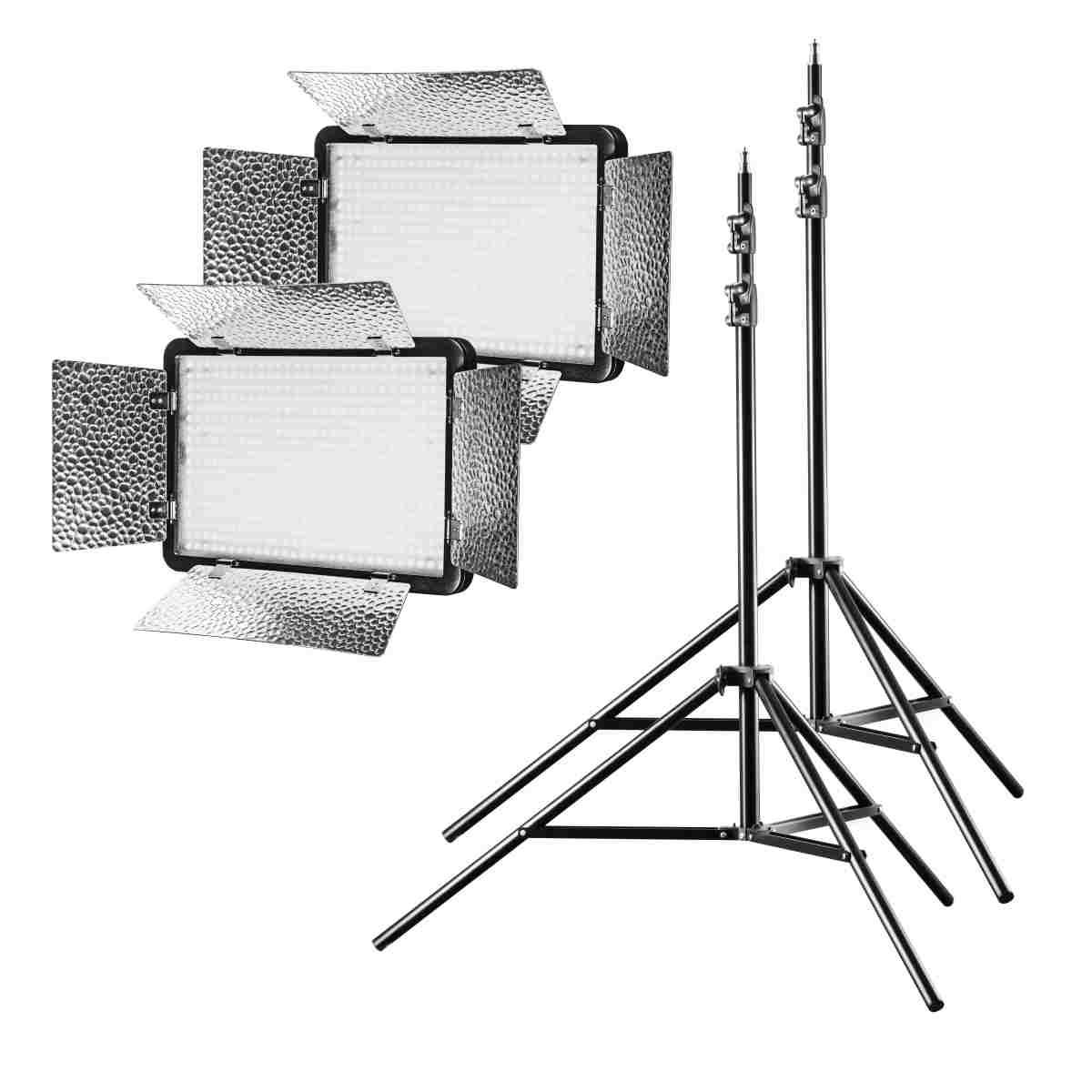 Walimex pro LED 500 Versalight Bi Color Set2