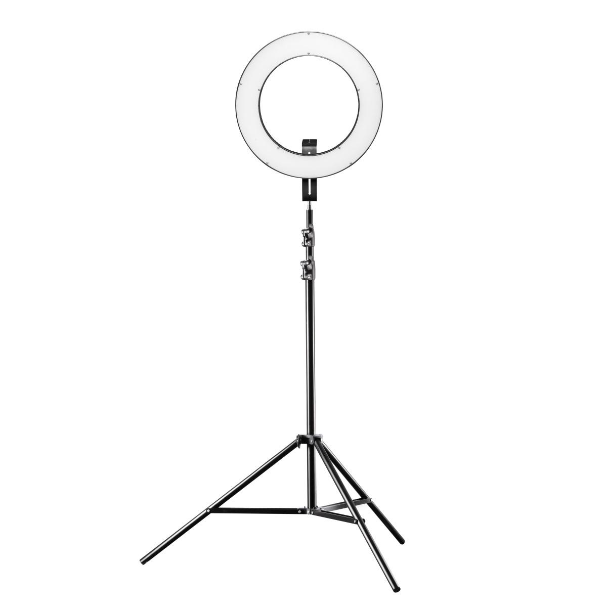 Walimex pro LED Ringleuchte 380 Bi Color Set inkl. Lampenstativ