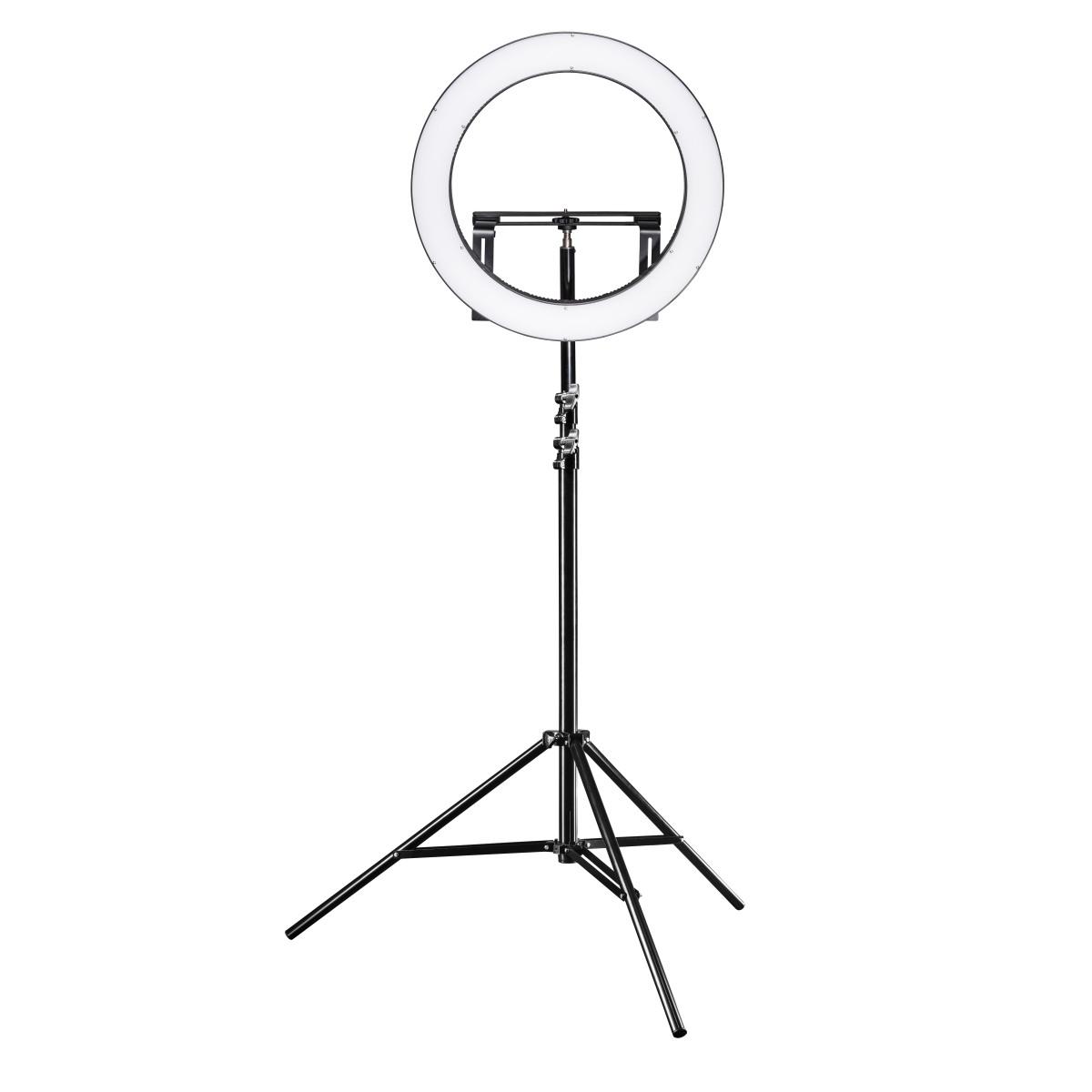 Walimex pro LED Ringleuchte 500 Bi Color Set inkl. Lampenstativ