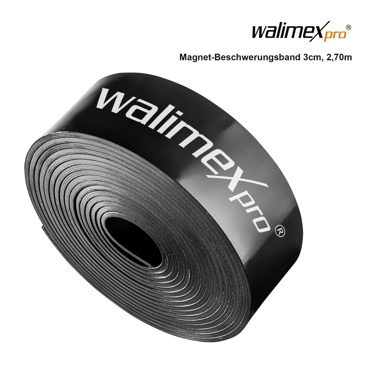 Walimex pro magnetic weighting tape 3cm, 2,7m