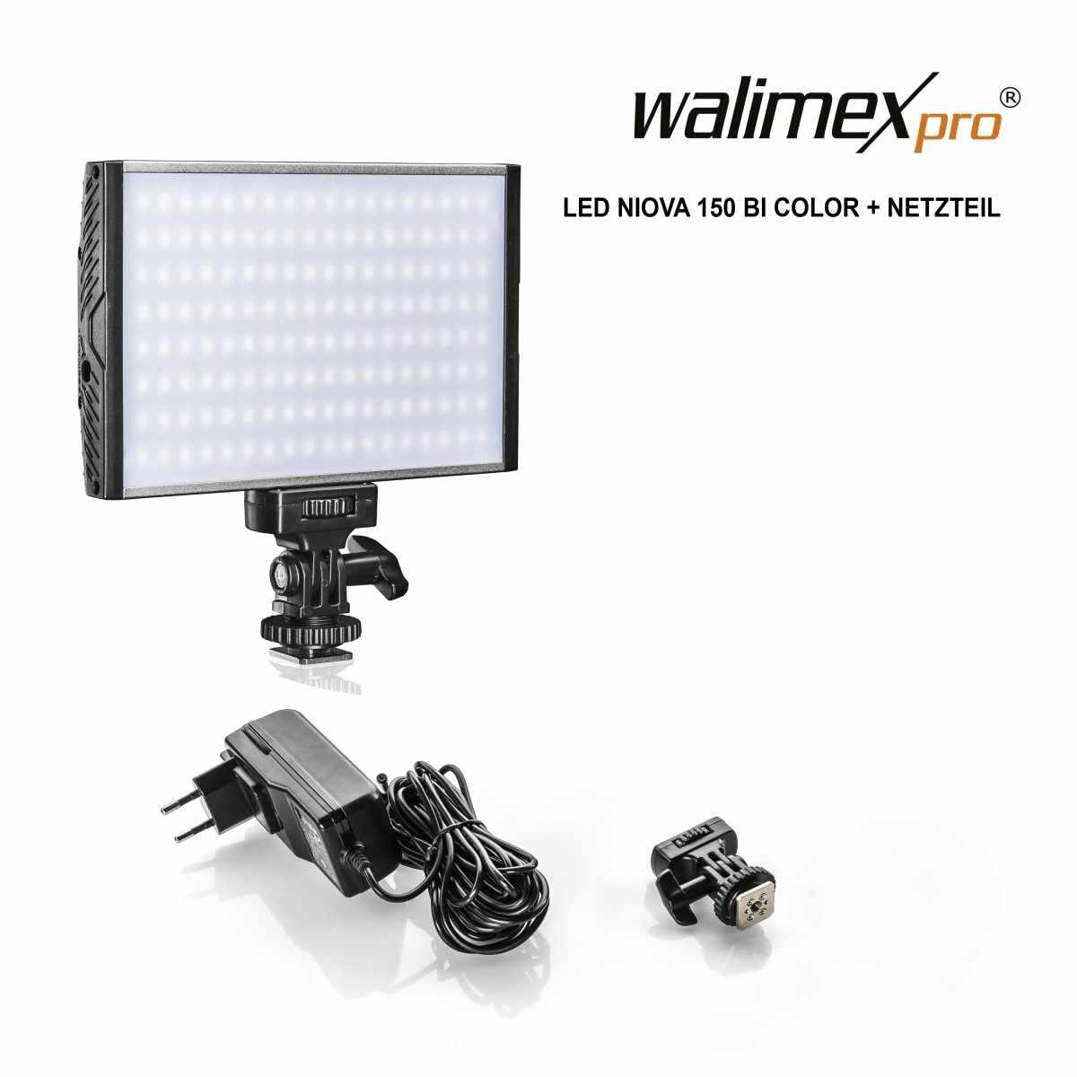 Walimex pro LED Niova 150 Bi Color + power adapter