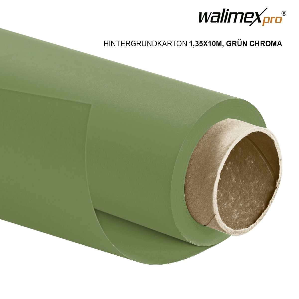 Walimex pro paper background 1,35x10m,green chroma