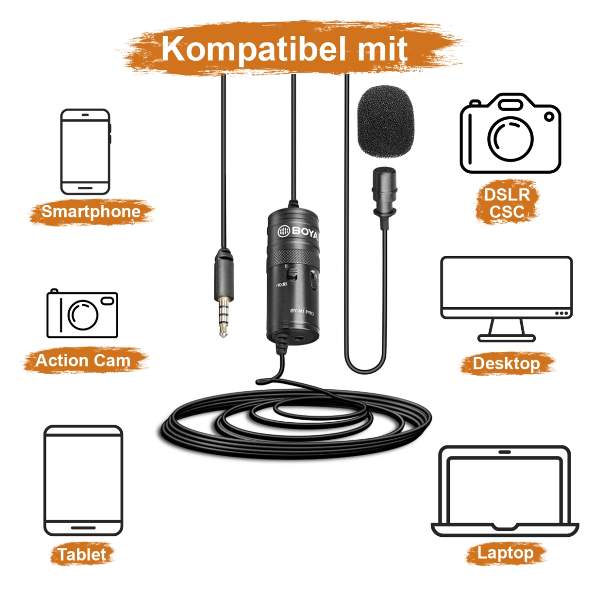 Walimex pro Boya M1 Pro Lavalier Microphone