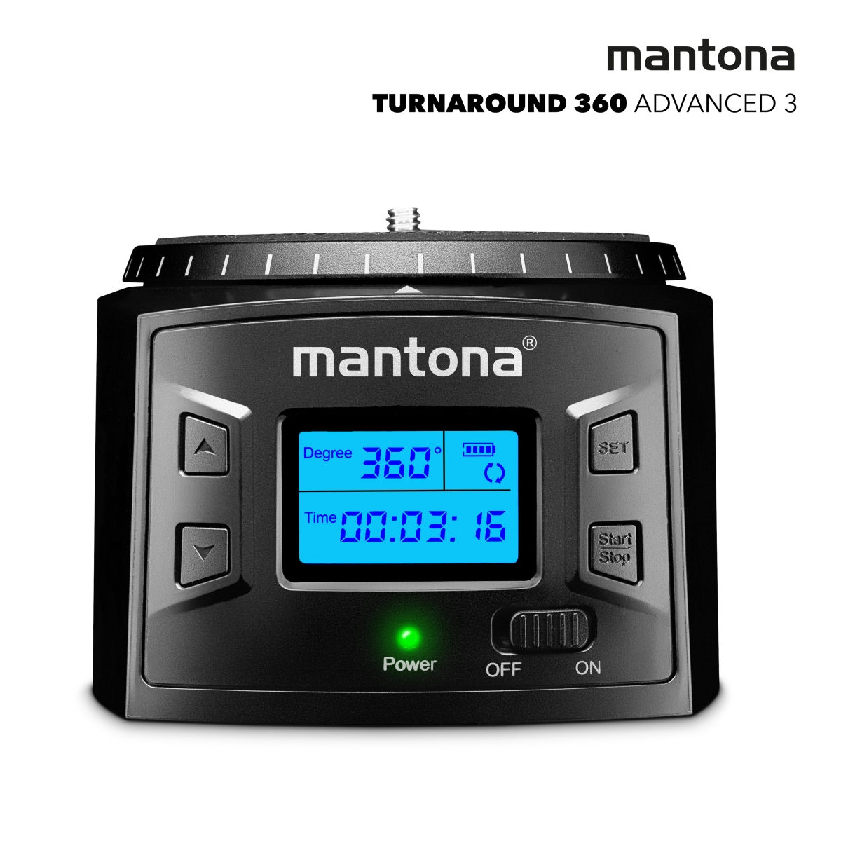 Mantona Turnaround 360 Advanced 3 - electric panning head