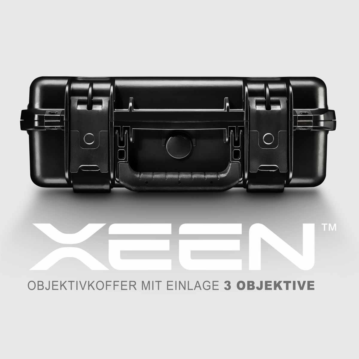 XEEN CF lens case with inlay 3 lenses